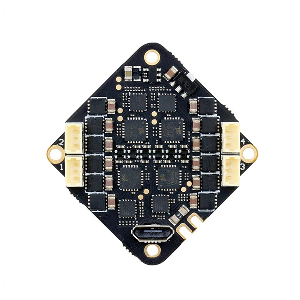 multi-rotor-parts 25.5x25.5mm SPCMaker Whoop F411 F4 OSD Flight Controller Built-in Current Sensor integrated with 25A BLheli_S 2-4S 4in1 Brushless ESC for Toothpick RC Drone FPV Racing HOB1702948 1