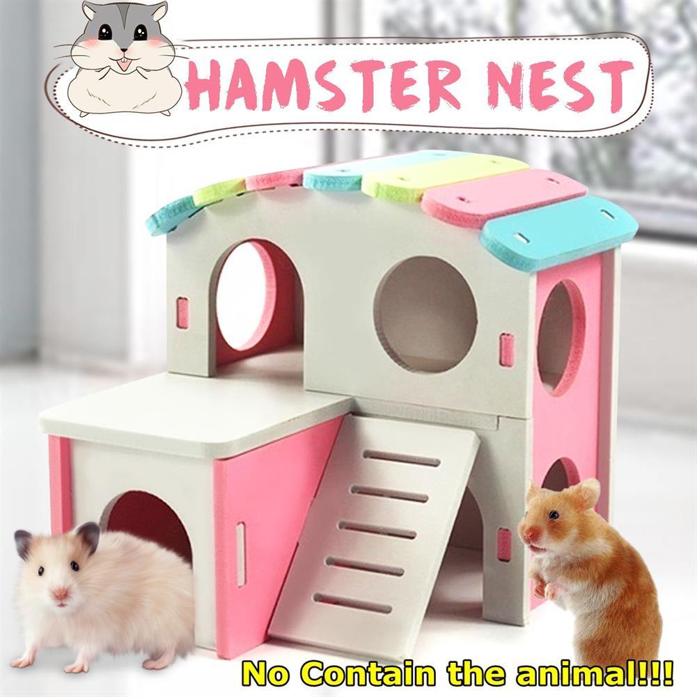 dolls-action-figure Hamster Golden Bear Bedroom Color Wooden House Big House HOB1702996 1
