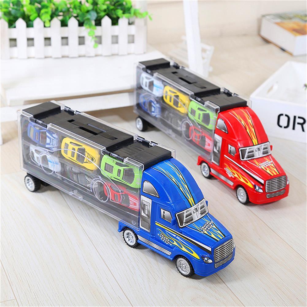 diecasts-model-toys Red Or Blue Alloy Car Set Children's inertial Truck Car Model indoor Toys HOB1703000 1
