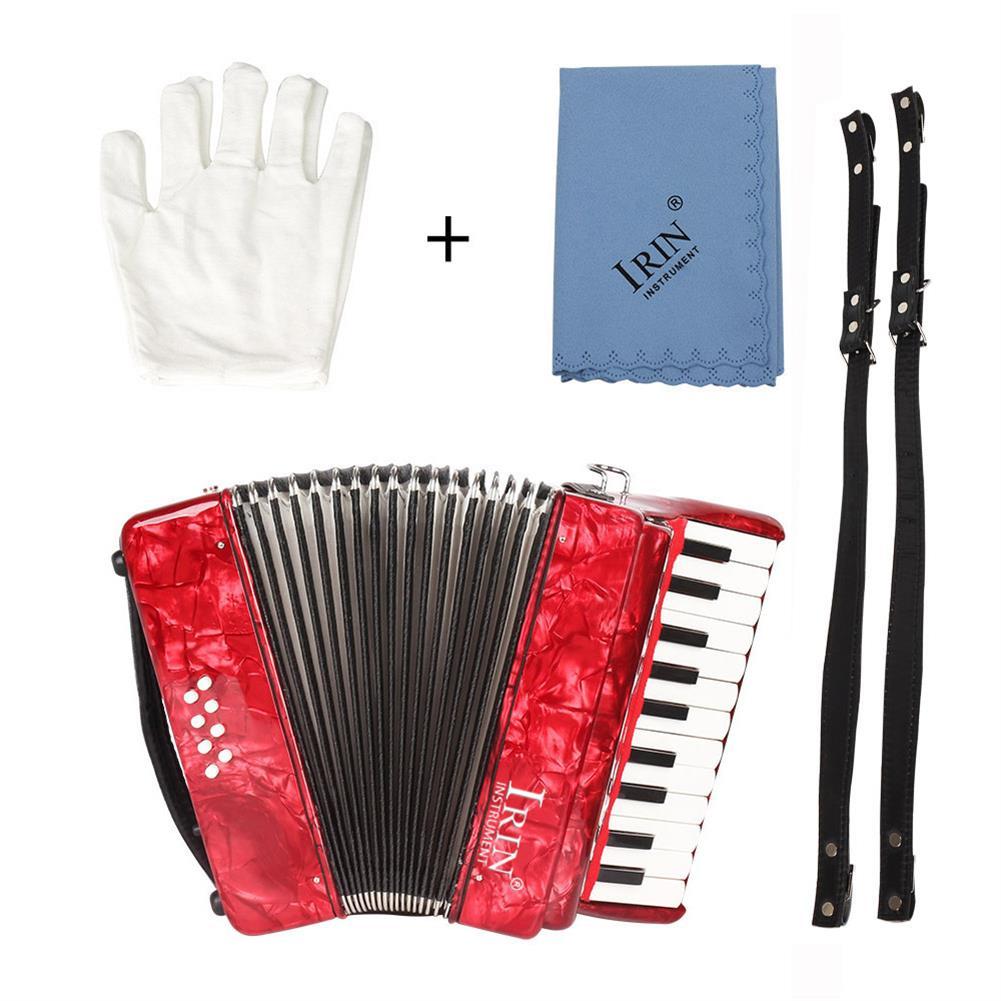 accordion IRIN 22-Keys 8 Bass Accordion Educational Practice Musical instrument Rhythm Band for Beginner Children HOB1704121
