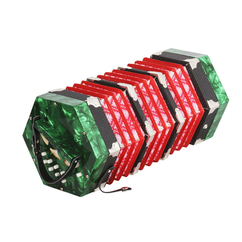 accordion 20-Button Concertina with Carrying Bag Adult Primary Playing Hexagon Accordion Keyboard Toys Gift for Kids Children HOB1704323