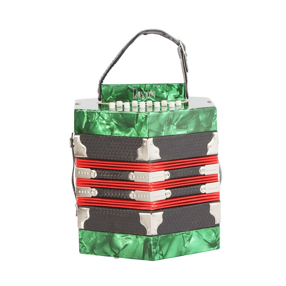 accordion 20-Button Concertina with Carrying Bag Adult Primary Playing Hexagon Accordion Keyboard Toys Gift for Kids Children HOB1704323 1