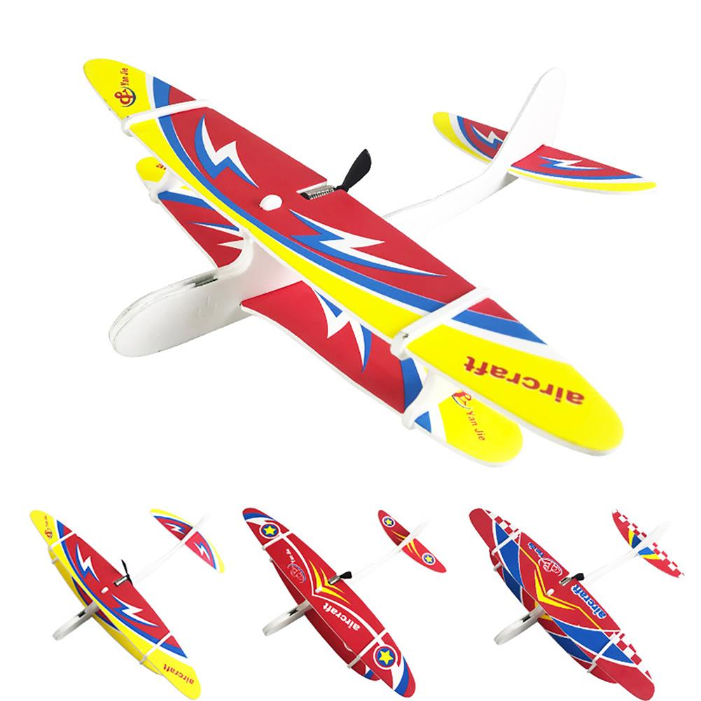 plane-parachute-toys Electric DIY Biplane USB Rechargeable Throwing Foam Aircraft with LED Lights Outdoor Toys for Children HOB1704791