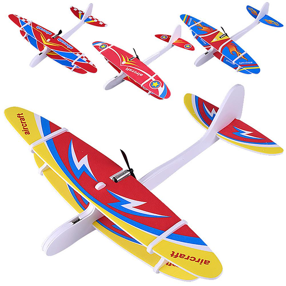 plane-parachute-toys Electric DIY Biplane USB Rechargeable Throwing Foam Aircraft with LED Lights Outdoor Toys for Children HOB1704791 1