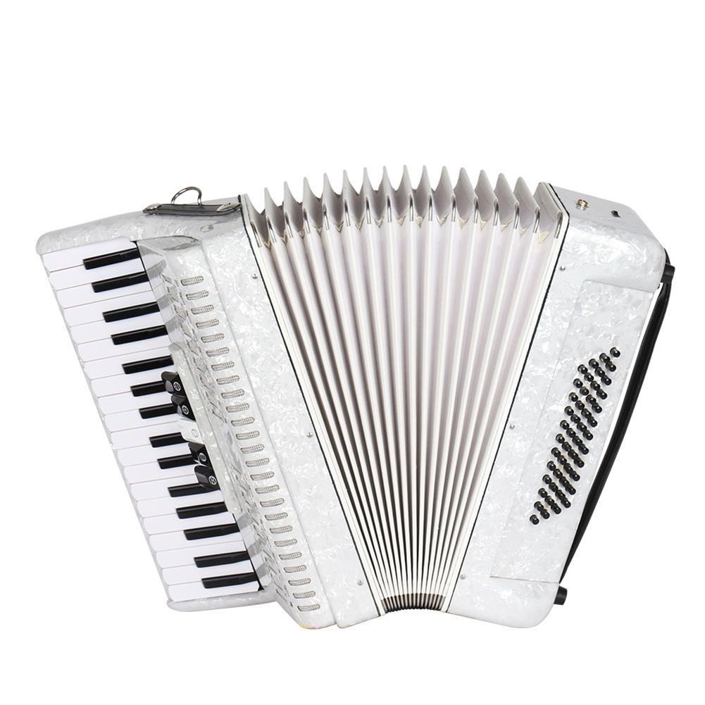 accordion IRIN 34 Key 48 Bass Accordion Musical instrument Accordion White Beginner Adult Musical instrument White Pattern Keyboard Musical instrument Gift HOB1705379