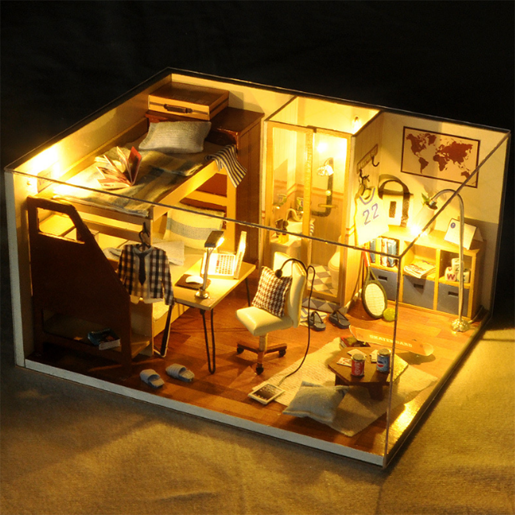 doll-house-miniature TIANYU DIY Doll House TW33 Reproduction Youth Series Handmade Model Wooden Creative Educational Toy Gift HOB1706301 1