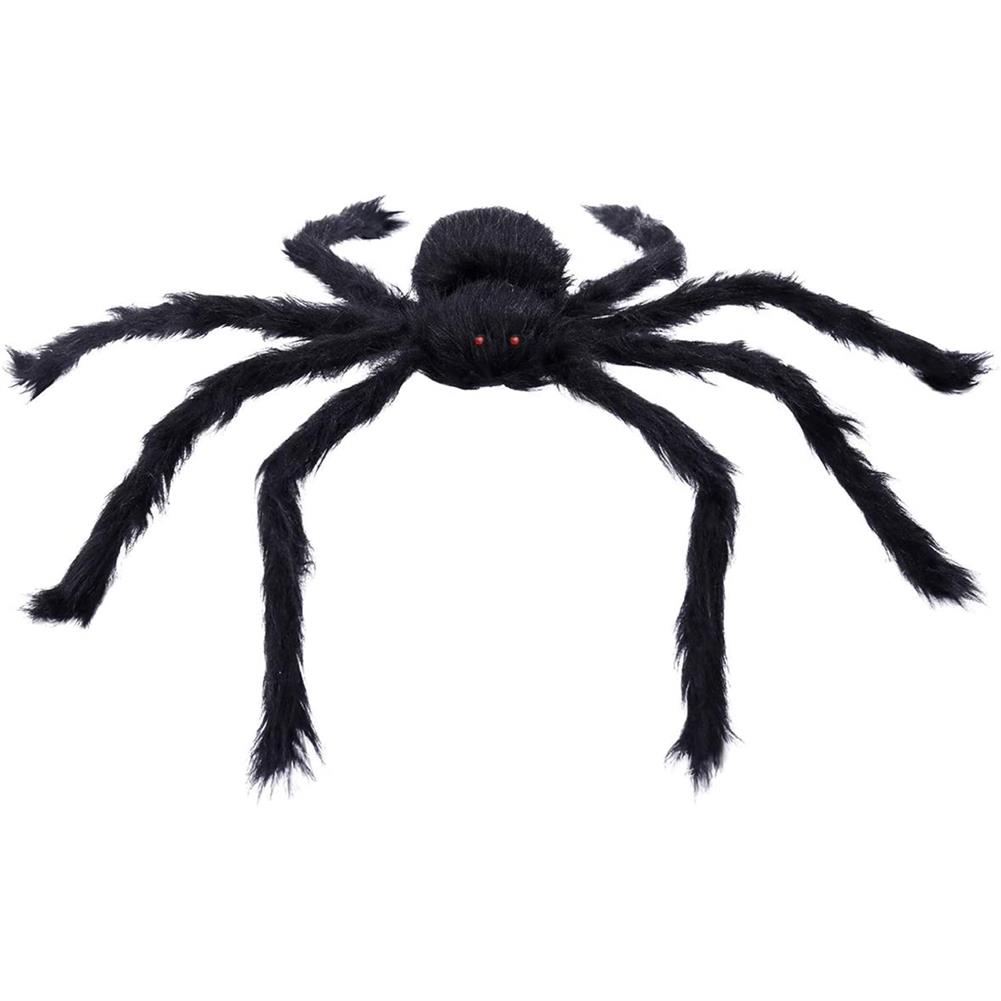 gags-practical-jokes 230CM Halloween Giant Spider Black Soft Hairy Scary Spider Toy for Outdoor Yard & indoor Decoration HOB1707915