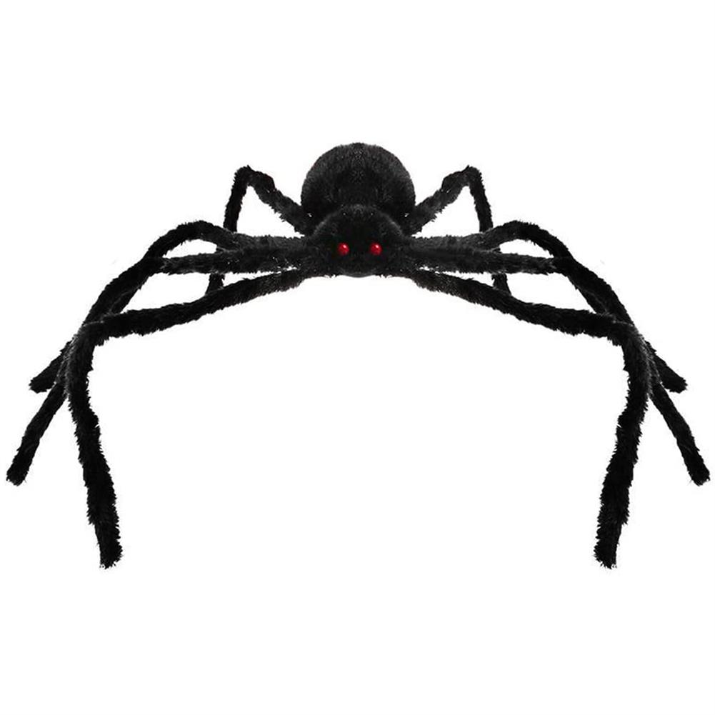 gags-practical-jokes 230CM Halloween Giant Spider Black Soft Hairy Scary Spider Toy for Outdoor Yard & indoor Decoration HOB1707915 1