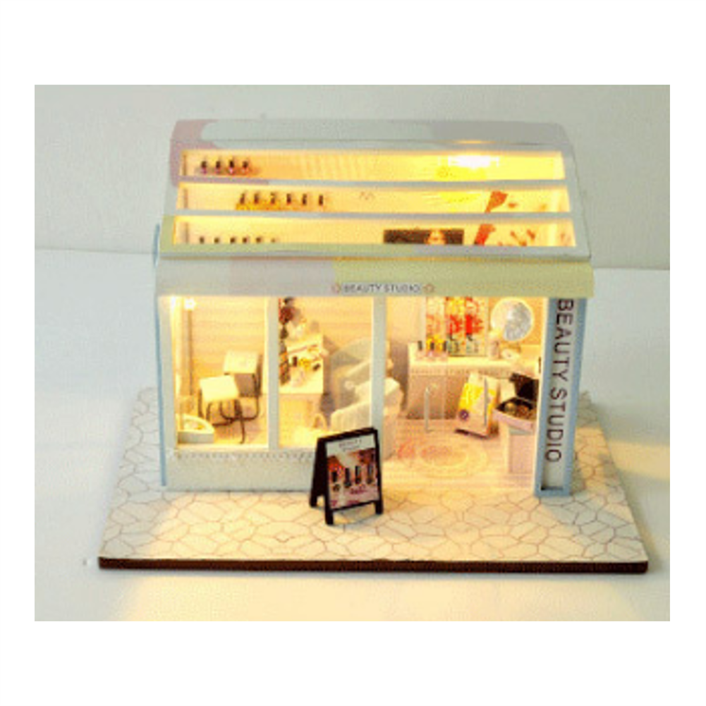 doll-house-miniature TIANYU DIY Doll House TD36 Manicure Store Creative Modern Shop Handmade Doll House with Furniture HOB1707935 2