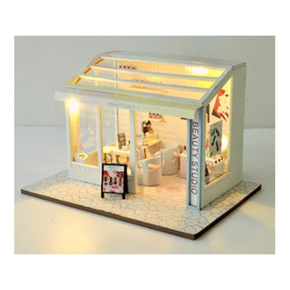 doll-house-miniature TIANYU DIY Doll House TD36 Manicure Store Creative Modern Shop Handmade Doll House with Furniture HOB1707935 3