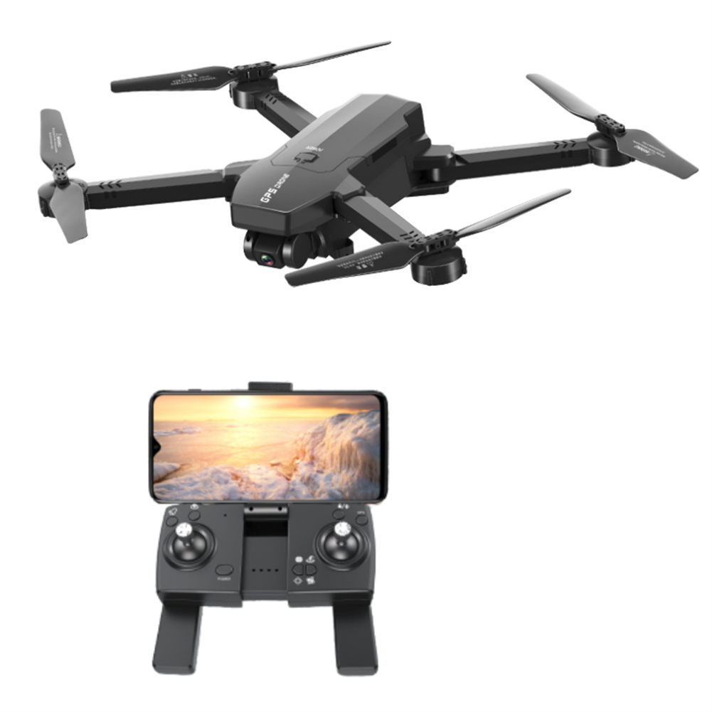 rc-quadcopters 1906 5G WIFI FPV GPS with 4K HD ESC Dual Camera Optical Flow Visual Positioning Foldable RC Drone Quadopter RTF HOB1708578
