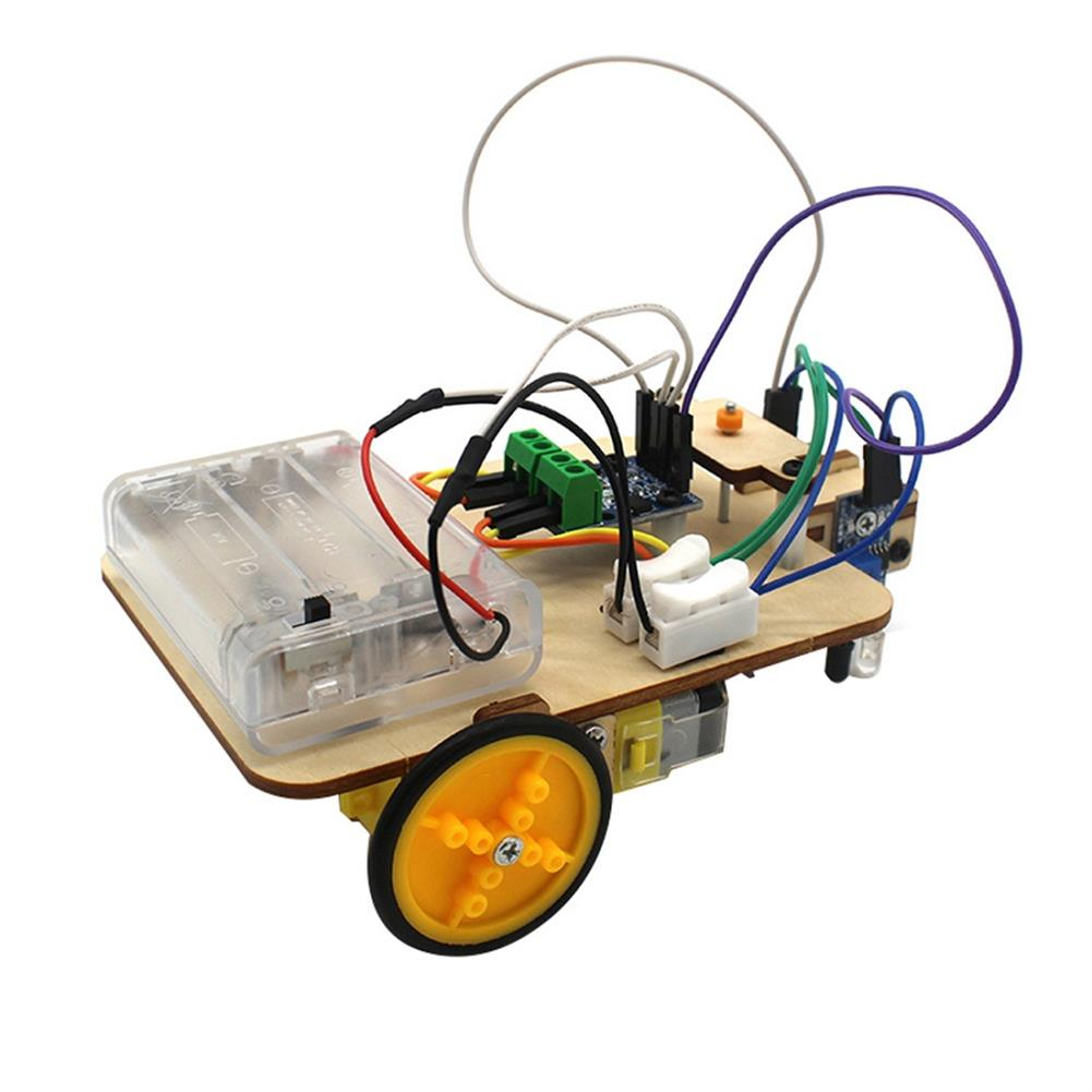 diy-education-robot Smart Robot Truck Chassis Kit Steam Education Learning Electronic Circuit for Arduino DIY Toy HOB1708690 1