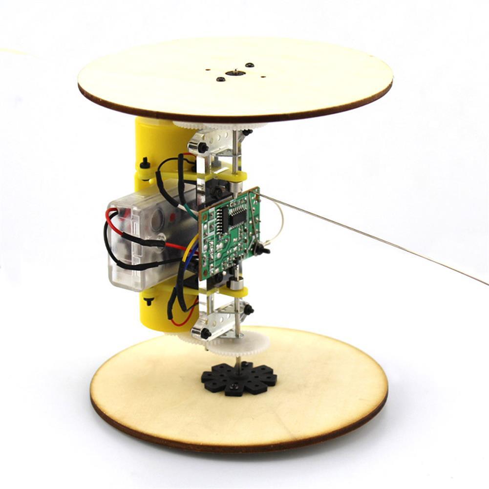 diy-education-robot DIY Wood Wheel Tire Remote Control Car Model Robot Toy Science Experiment HOB1709106 1