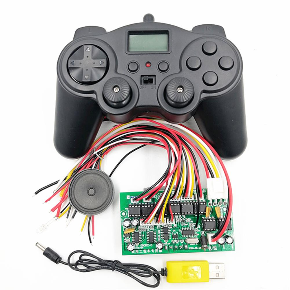 robot-parts-tools HS18-580 18 Channel Remote Control Receiver Charging Remote Control Set for Excavator Toy Car HOB1709214