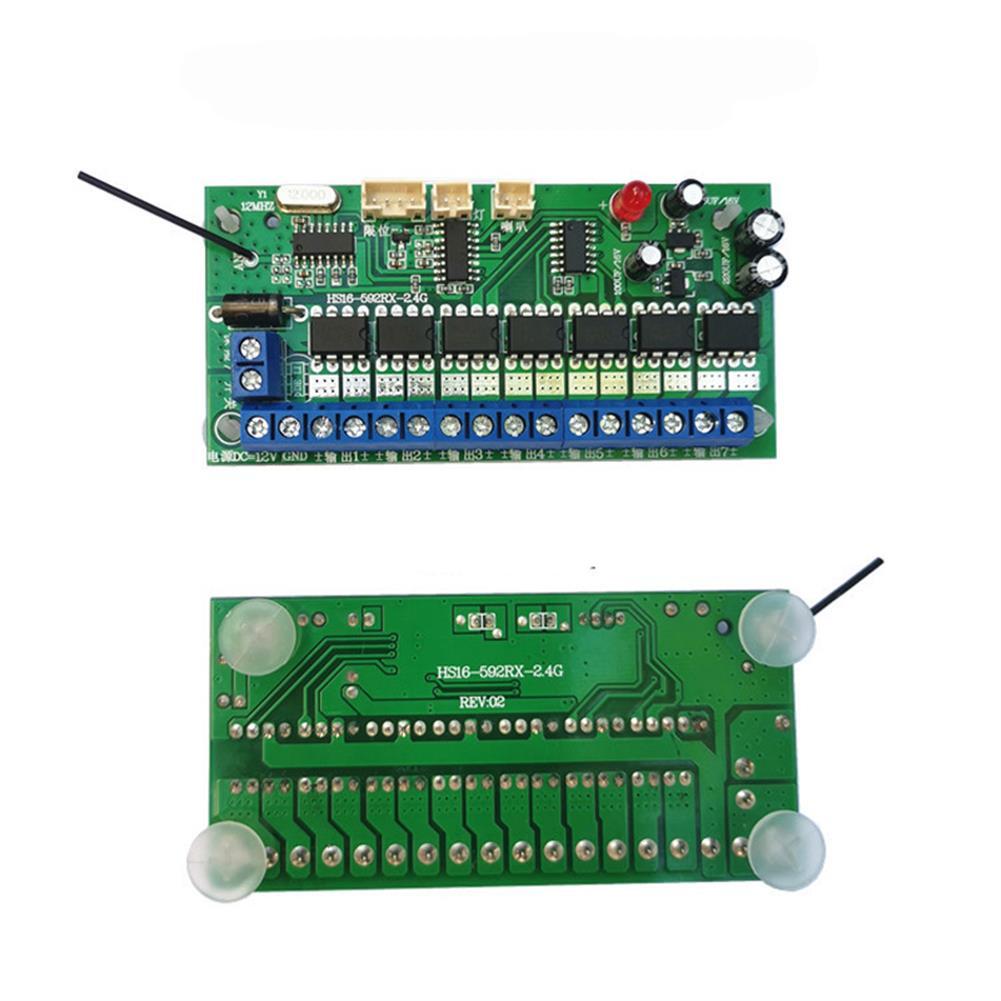 robot-parts-tools 16CH 2.4G 12V Remote Control Receiver Set for Model Excavator DIY Toy Car Robot HOB1709580 3