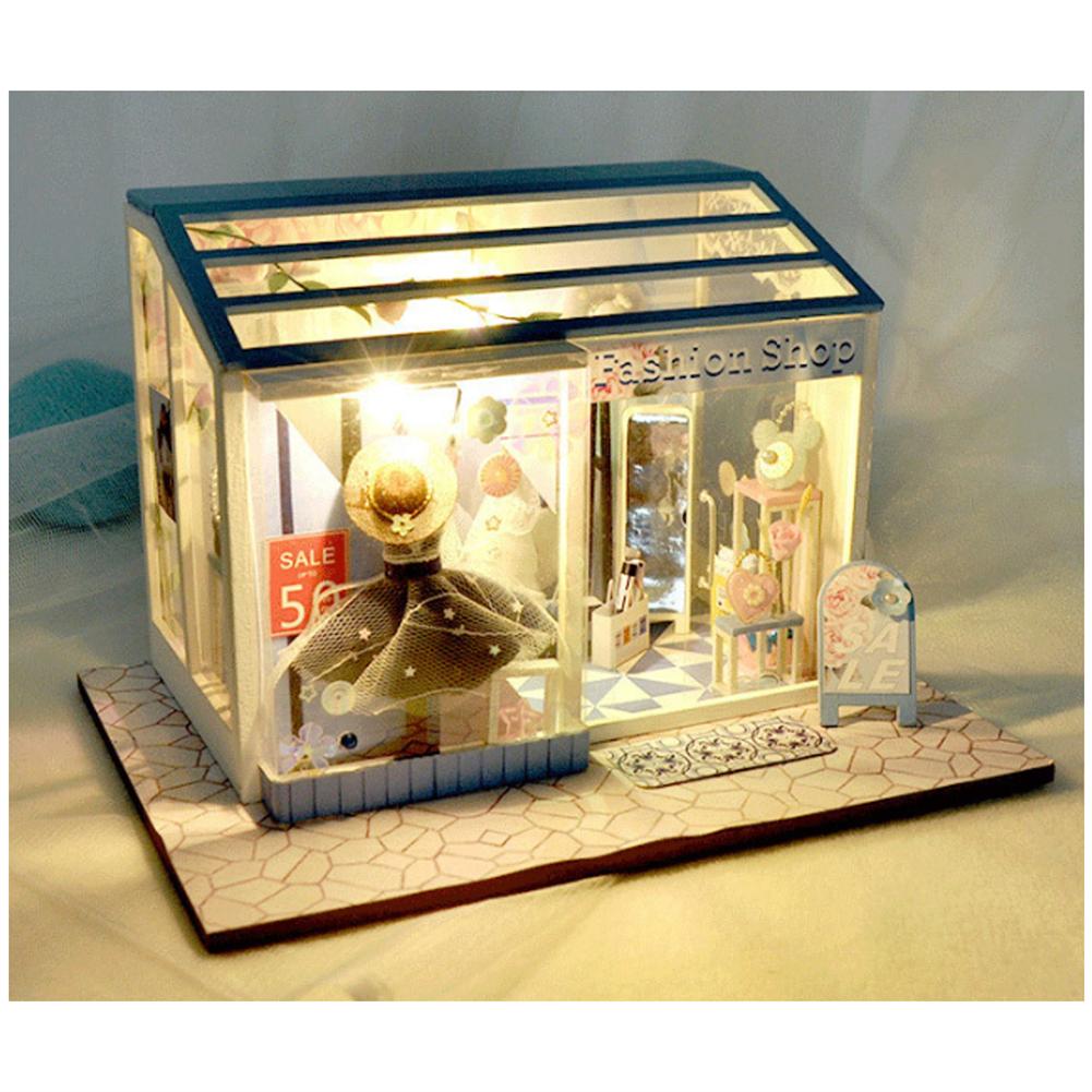 doll-house-miniature TIANYU DIY Doll House TD38 Clothing Store Creative Modern Shop Handmade Doll House with Furniture HOB1710225 2
