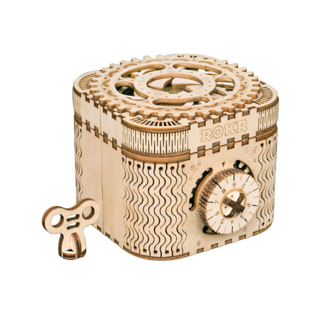 puzzle-game-toys Robotime LK502 Password Box DIY Handmade Wooden 3-dimensional Assembled Toy HOB1710751