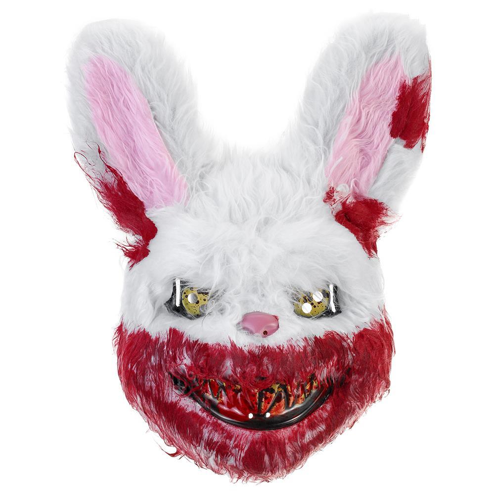 mask-costumes Bloody Rabbit Plush Mask Halloween Ghost Festival Horror Mask Cute Rabbit Headgear HOB1710761