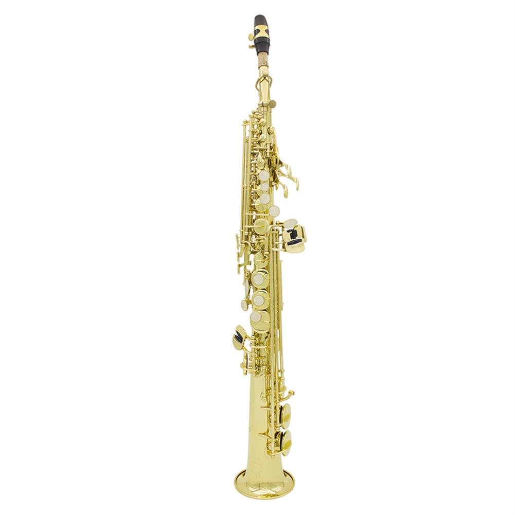 saxophone Brass Straight Soprano Sax Saxophone Bb B Flat Woodwind instrument Natural Shell Key Carve Pattern with Carrying Case HOB1711014 1