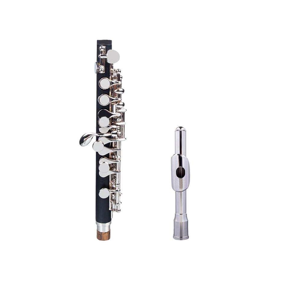 piccolo NAOMI Professional Nickel Plated Piccolo Excellent Ebonite Rubber Wood Piccolo Key of C Piccolo Set HOB1711527 1