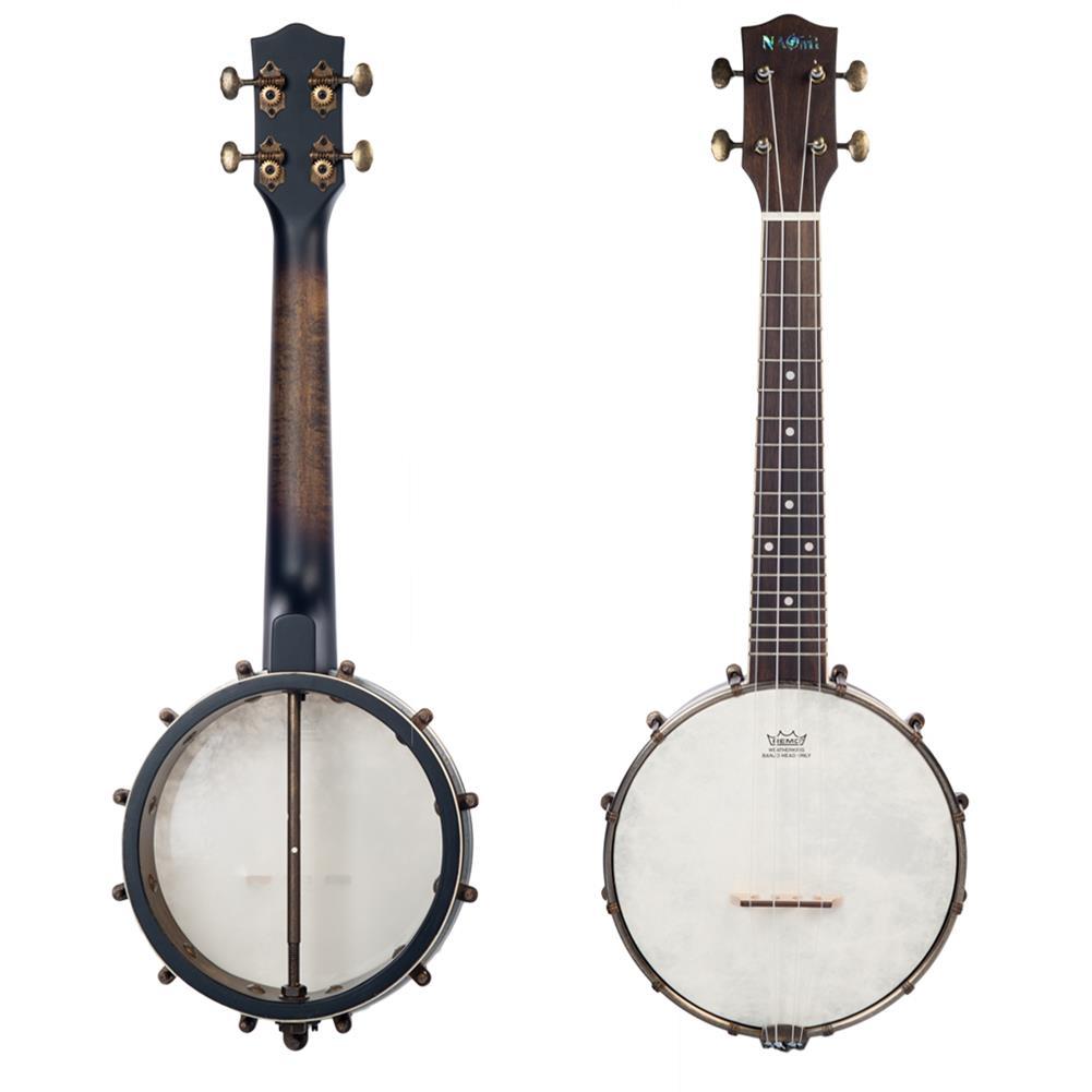 banjo NAOMI NUKB-03 23 inch Banjolele Banjouke Concert-Scale Banjo Ukulele Vintage Copper Accessories Maple Neck W/ Gig Bag HOB1712061 1