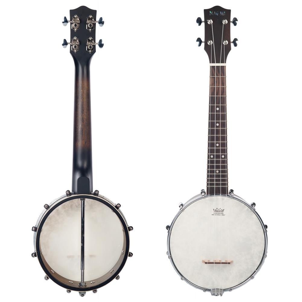 banjo NAOMI NUKB-01 Banjolele Concert Scale Banjo 23 Ukulele with Gig Bag Vintage Color Banjo HOB1712065 1