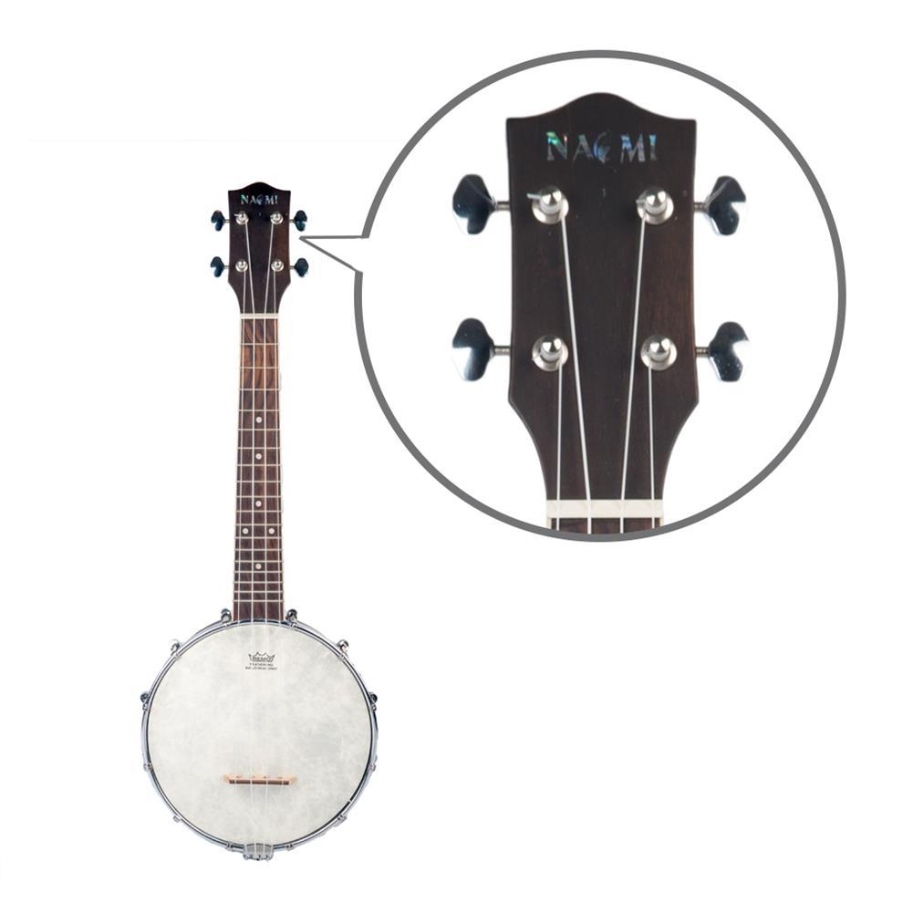 banjo NAOMI NUKB-01 Banjolele Concert Scale Banjo 23 Ukulele with Gig Bag Vintage Color Banjo HOB1712065 2