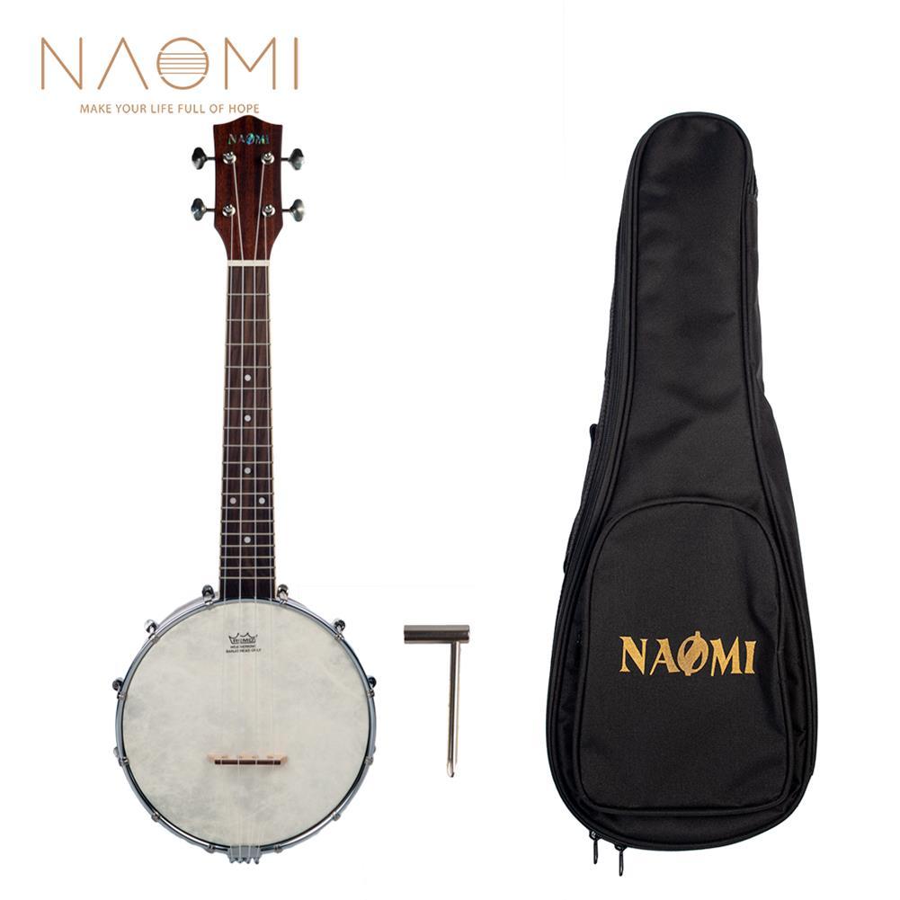 banjo NAOMI NUKB-02 Banjolele Banjouke Concert-Scale Banjo Ukulele Sunset Color Maple Neck with Gig Bag HOB1712070