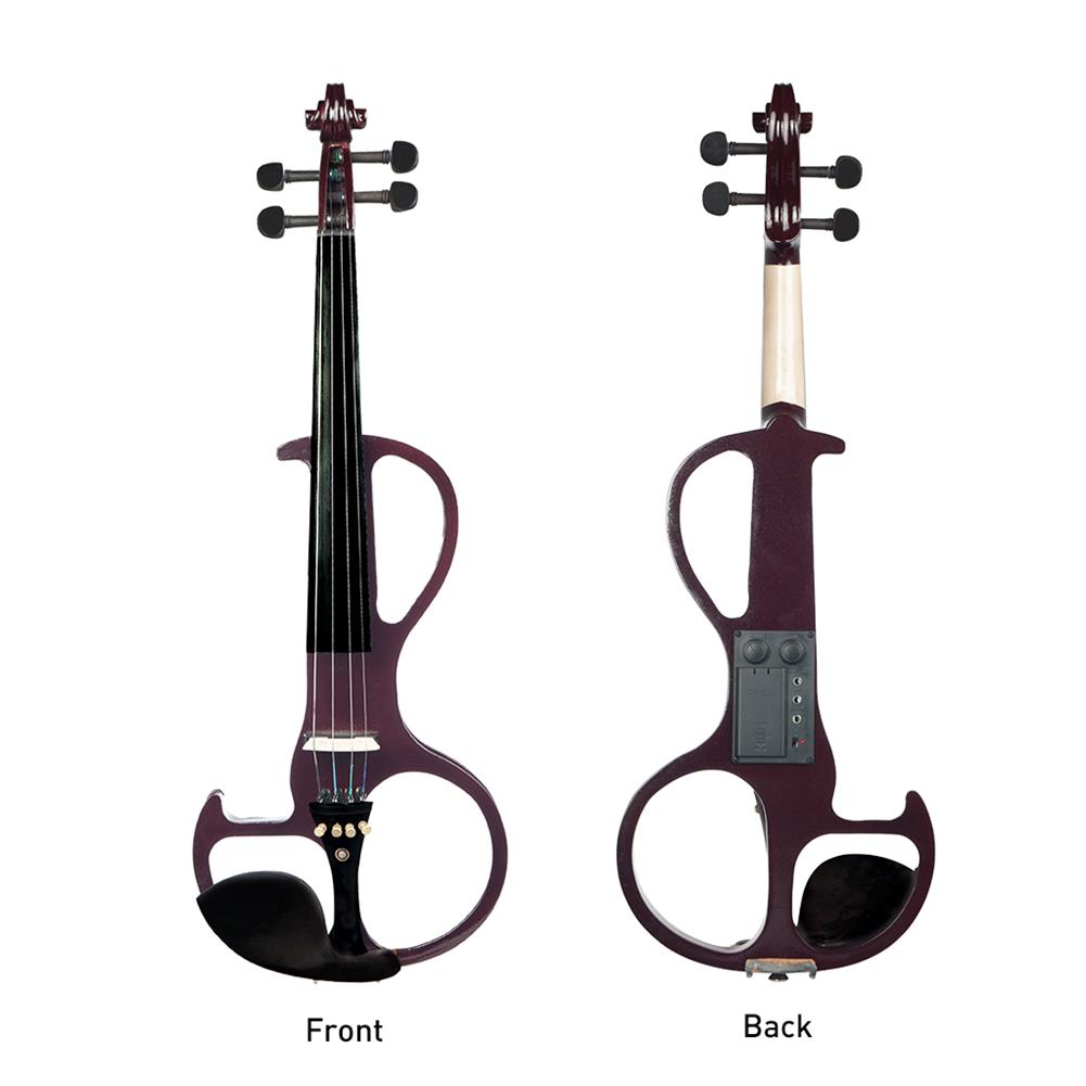 violin NAOMI Full Size 4/4 Violin Electric Violin Fiddle Maple Body Fingerboard Pegs Chin Rest with Bow Case HOB1713626 1