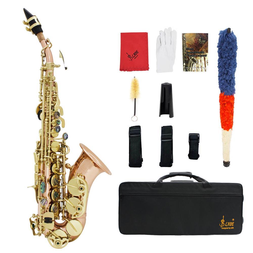 saxophone Bb key to High F key and G Key Phosphor Bronze Copper Curved Soprano Saxophone HOB1714006