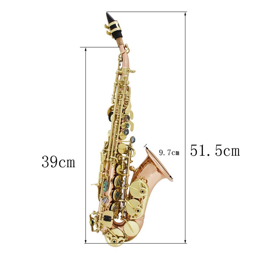 saxophone Bb key to High F key and G Key Phosphor Bronze Copper Curved Soprano Saxophone HOB1714006 1