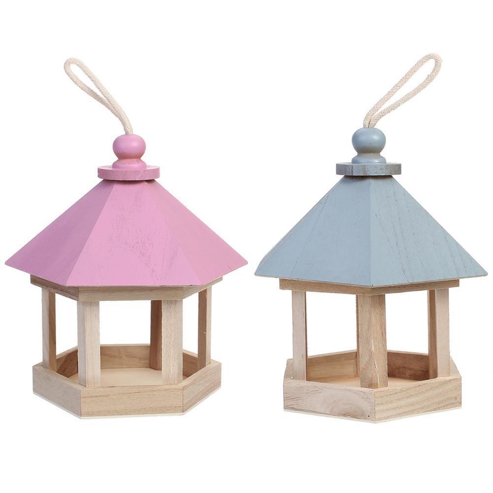 puzzle-game-toys Outdoor Wooden Hanging House Bird Feeder Bird House Bird Frame Rainproof Sturdy HOB1714782