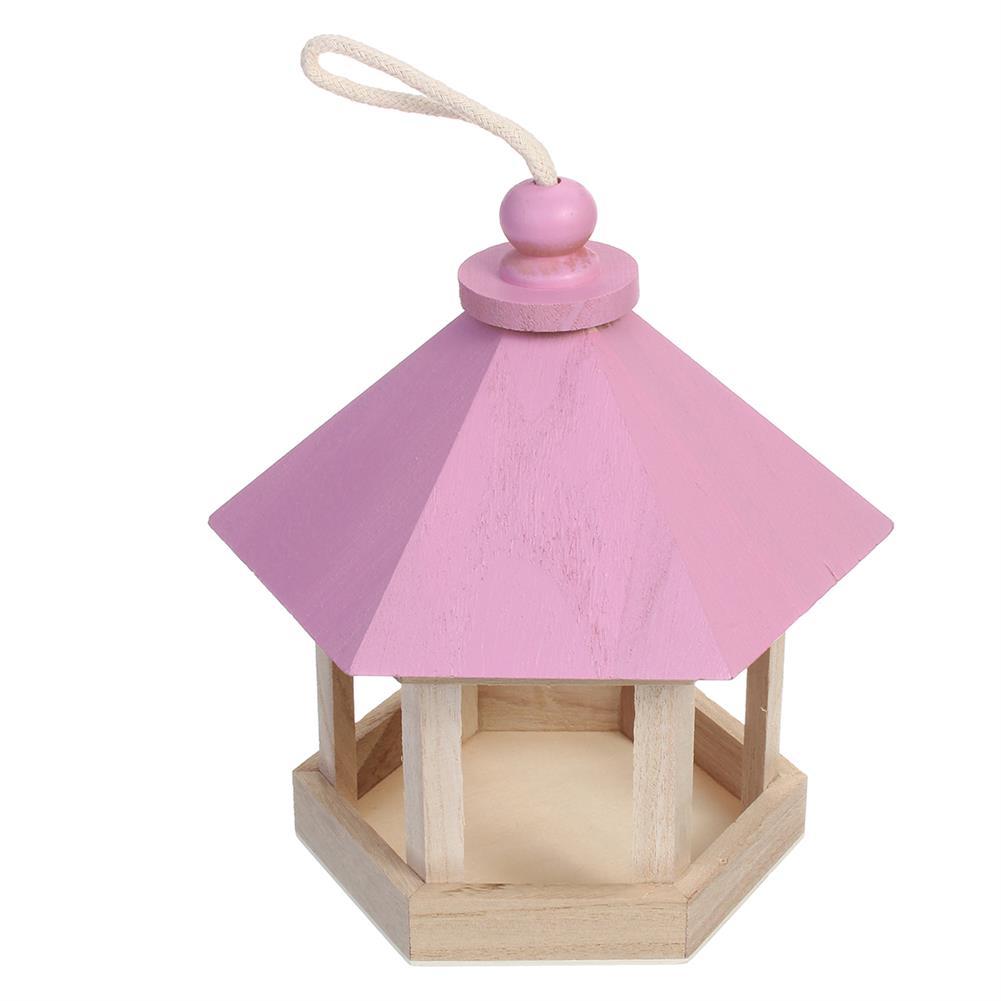 puzzle-game-toys Outdoor Wooden Hanging House Bird Feeder Bird House Bird Frame Rainproof Sturdy HOB1714782 1