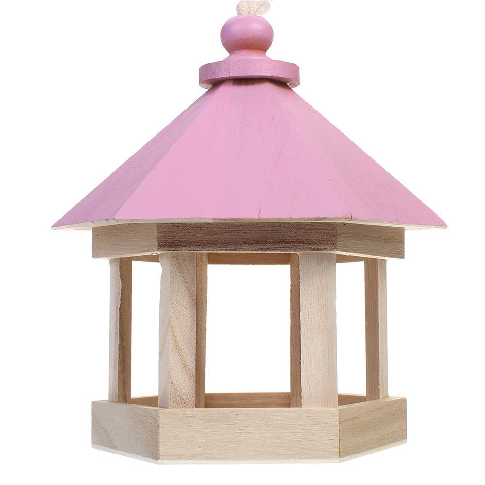 puzzle-game-toys Outdoor Wooden Hanging House Bird Feeder Bird House Bird Frame Rainproof Sturdy HOB1714782 3