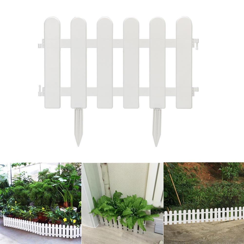 paper-art-drawing 12/24Pcs PVC Plastic Garden Fence Easy Assemble Courtyard Garden Vegetable Fence Decoration HOB1716559