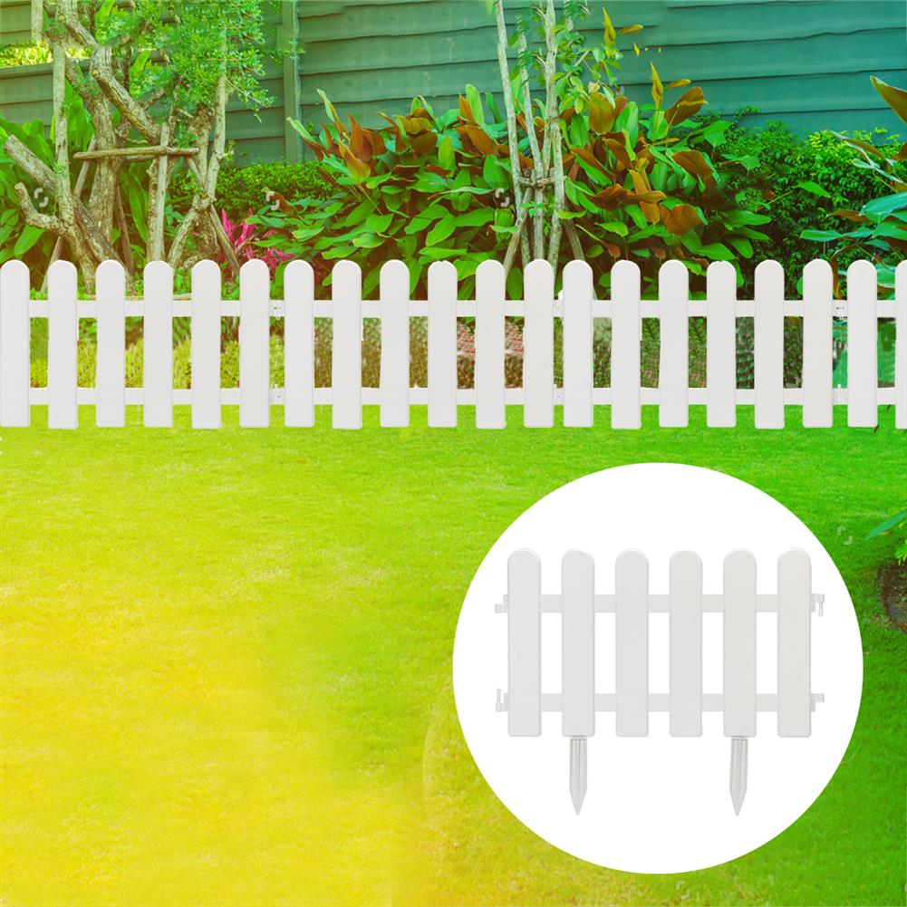 paper-art-drawing 12/24Pcs PVC Plastic Garden Fence Easy Assemble Courtyard Garden Vegetable Fence Decoration HOB1716559 1