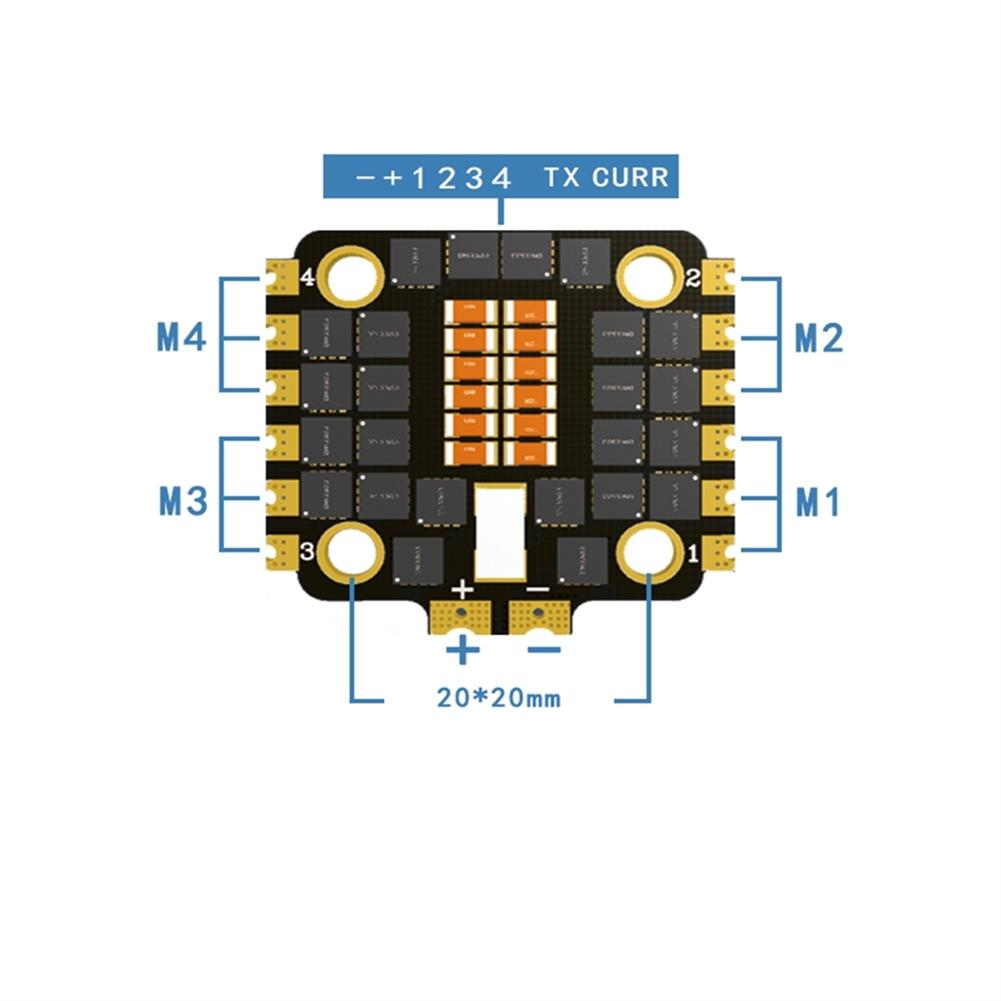 multi-rotor-parts HAKRC 40A Blheli_32 2-6S 4 in 1 UBEC Brushless ESC 20*20mm Support Dshot1200 for RC Drone FPV Racing HOB1716717 2