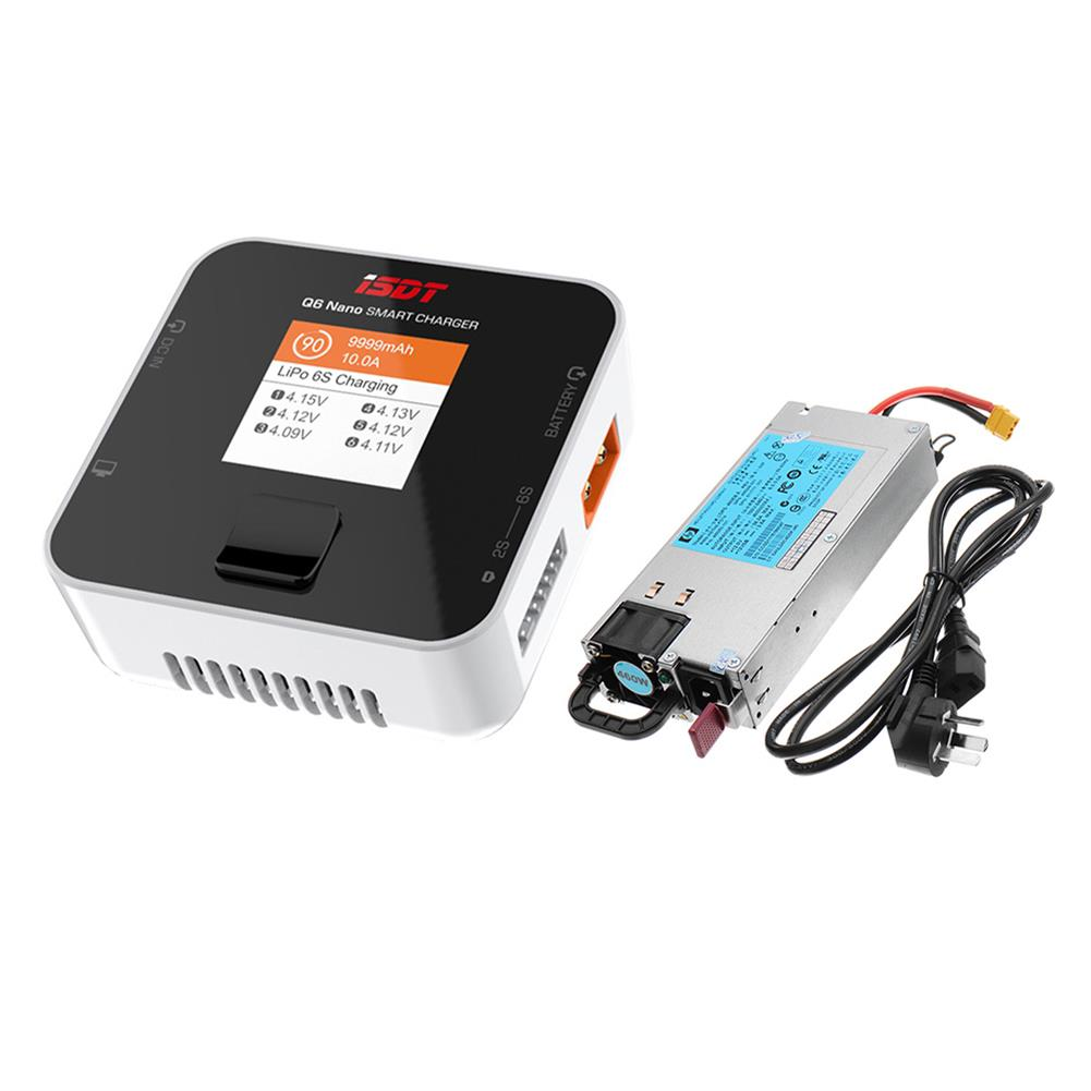 battery-charger ISDT Q6 Nano BattGo 200W 8A Lipo Battery Charger with HP DC 12V 460W 38A Power Supply HOB1716829