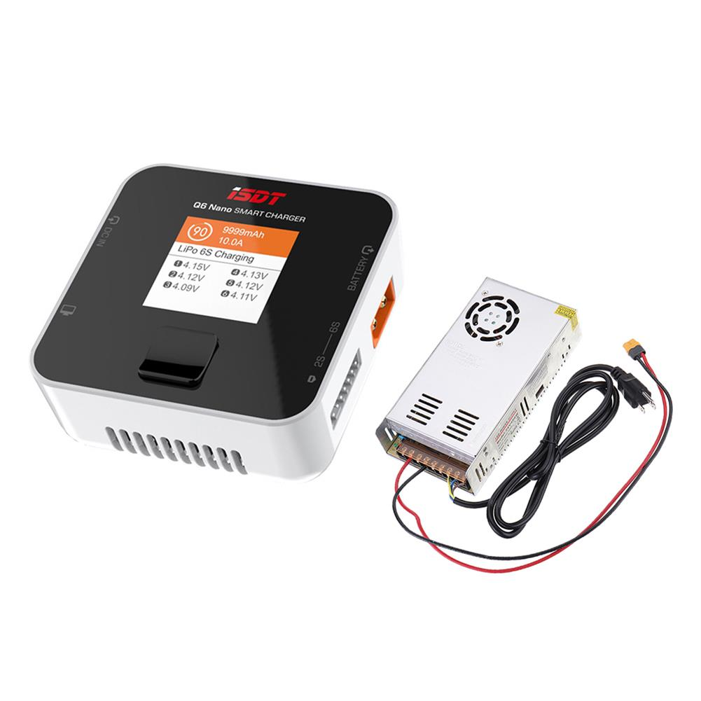 battery-charger ISDT Q6 Nano BattGo 200W 8A Lipo Battery Charger with Hobbyporter 24V 16.7A 400W Power Supply Adapter US Plug HOB1716932