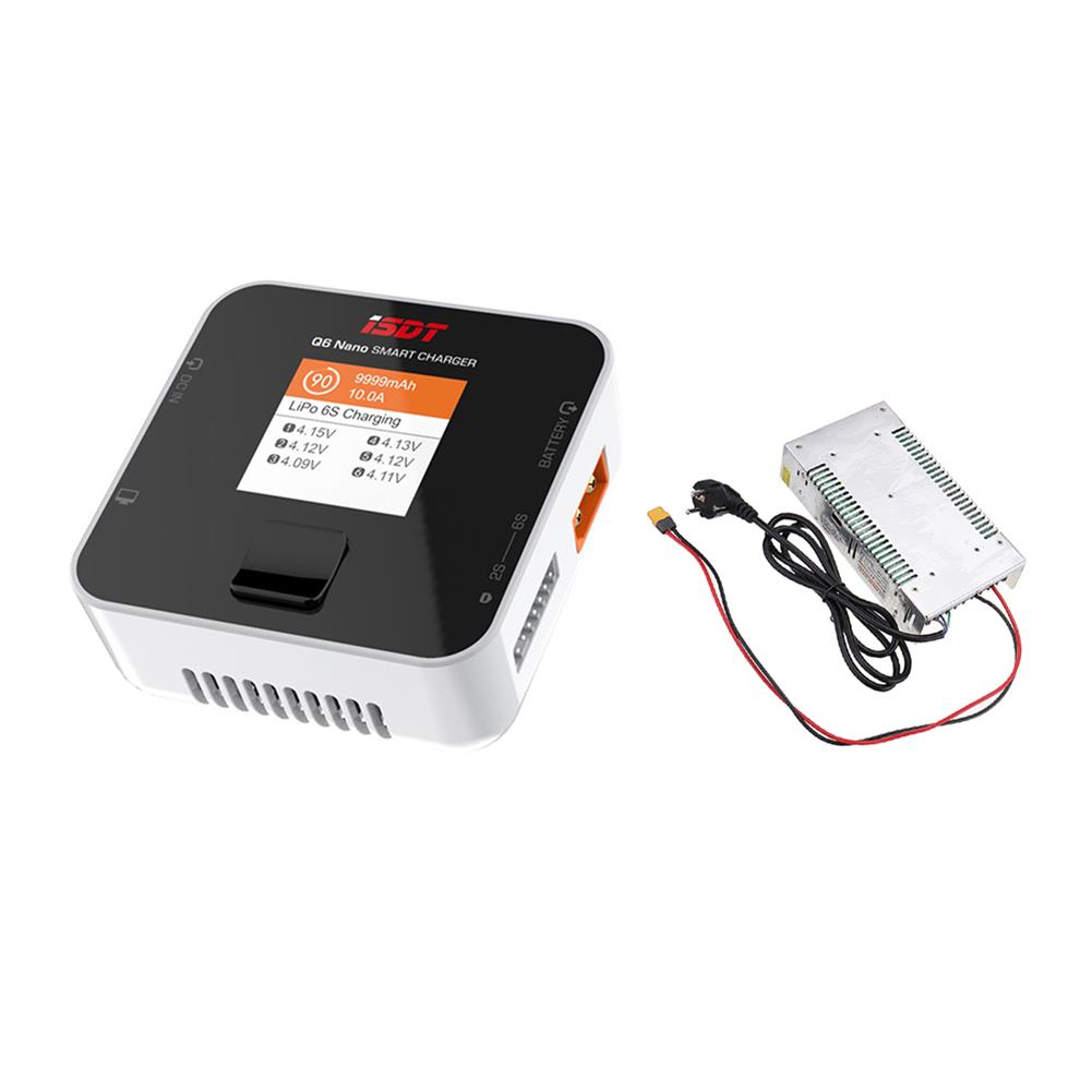 battery-charger ISDT Q6 Nano BattGo 200W 8A Lipo Battery Charger with Hobbyporter 24V 16.7A 400W Power Supply Adapter EU Plug HOB1716956