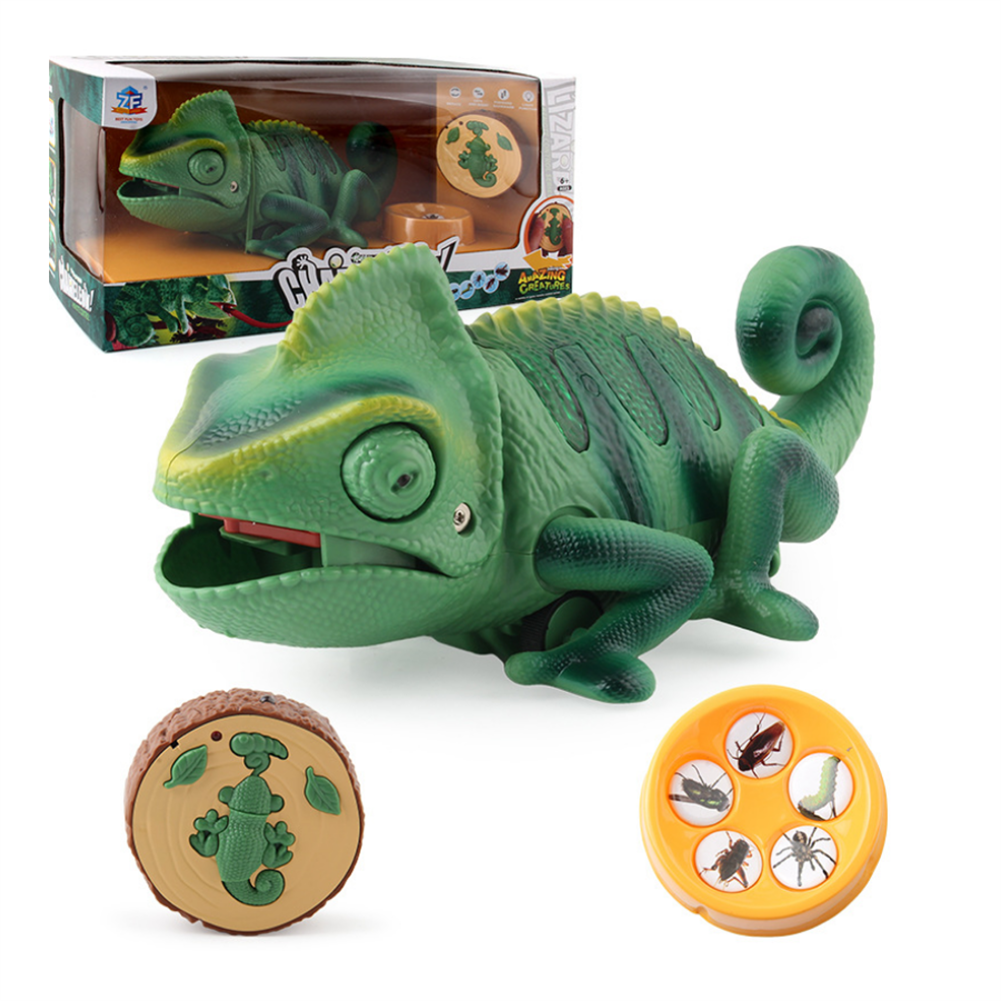 gags-practical-jokes Electric infrared Remote Control Lights Crawling Chameleon Children's New Strange Bug-catching Tricky Toys HOB1717663