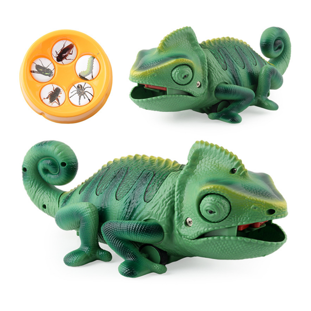 gags-practical-jokes Electric infrared Remote Control Lights Crawling Chameleon Children's New Strange Bug-catching Tricky Toys HOB1717663 1