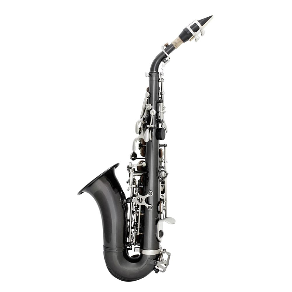 saxophone Slade Bb Soprano Saxophone Sax Brass Material Woodwind instrument with Case Gloves Cleaning Cloth Brush Sax Strap Mouthpiece Brush HOB1719467 1