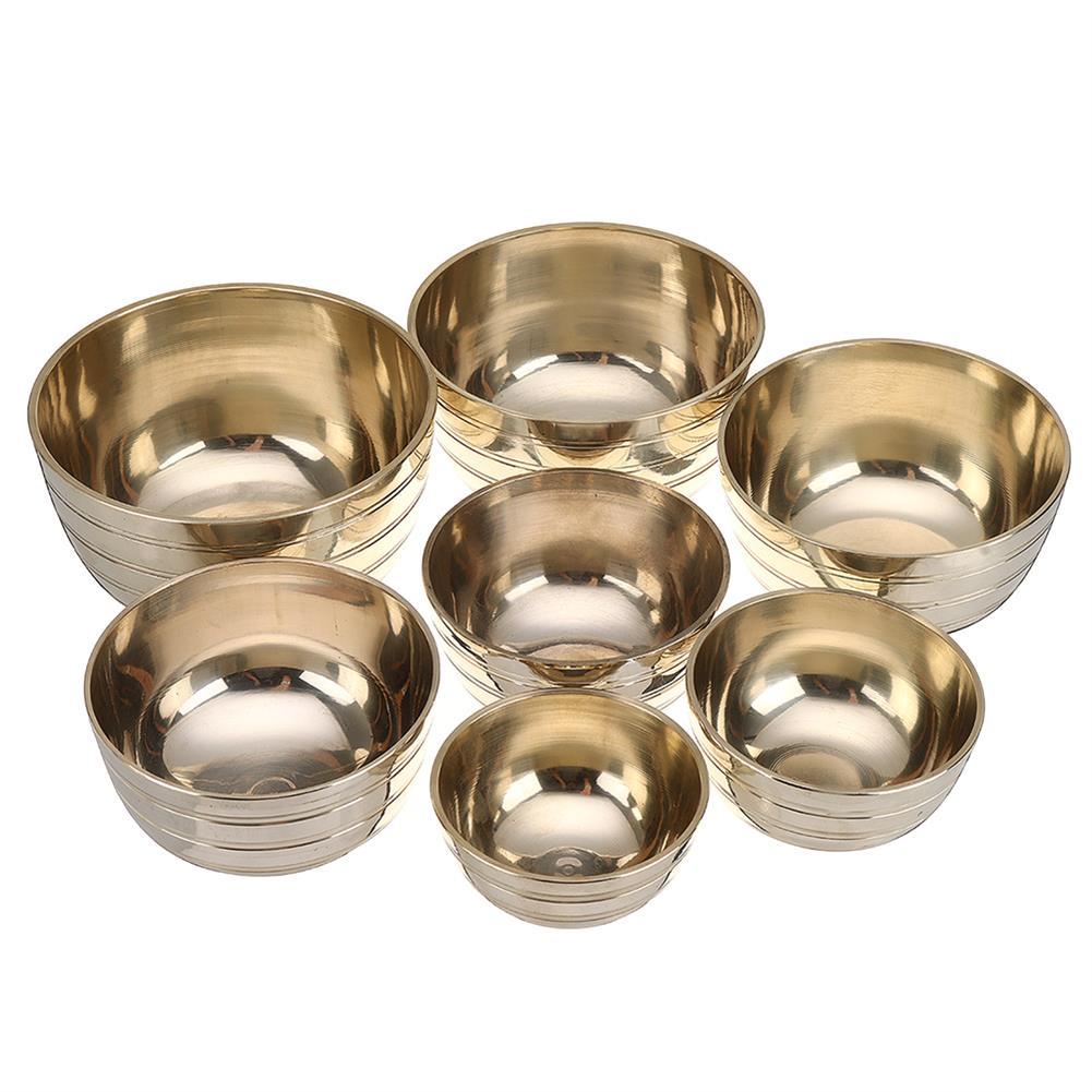 folk-world-percussion Chakra Healing Tibetan Hammered Himalayan Singing Bowl Set of 7 Meditation Bowls Hand Bowls from Nepal HOB1719524