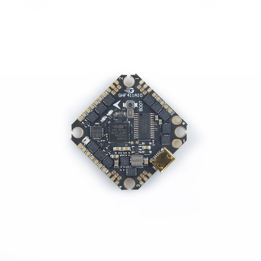 multi-rotor-parts 25.5x25.5mm GEELANG F411 F4 Flight Controller AIO OSD BEC Built-in 20A BLheli_S 4in1 Brushless ESC 2-4S Spport DJI Air Unit Caddx Vista for TITAN 120X FPV Racing Drone HOB1719823