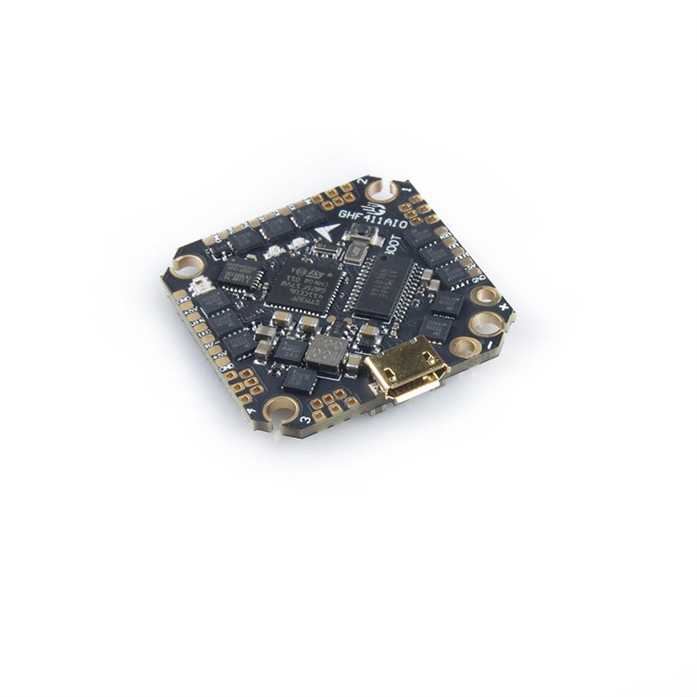 multi-rotor-parts 25.5x25.5mm GEELANG F411 F4 Flight Controller AIO OSD BEC Built-in 20A BLheli_S 4in1 Brushless ESC 2-4S Spport DJI Air Unit Caddx Vista for TITAN 120X FPV Racing Drone HOB1719823 2