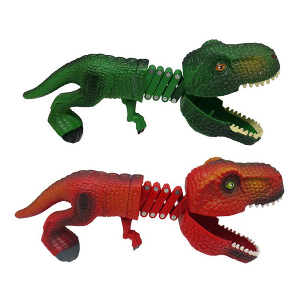 gags-practical-jokes Dinosaur Shark Pecker Telescopic Spring Manipulator Clip Creative Decompression Tricky Toy HOB1720111