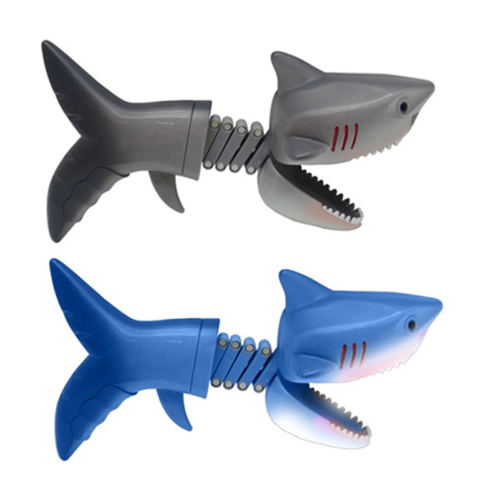 gags-practical-jokes Dinosaur Shark Pecker Telescopic Spring Manipulator Clip Creative Decompression Tricky Toy HOB1720111 1