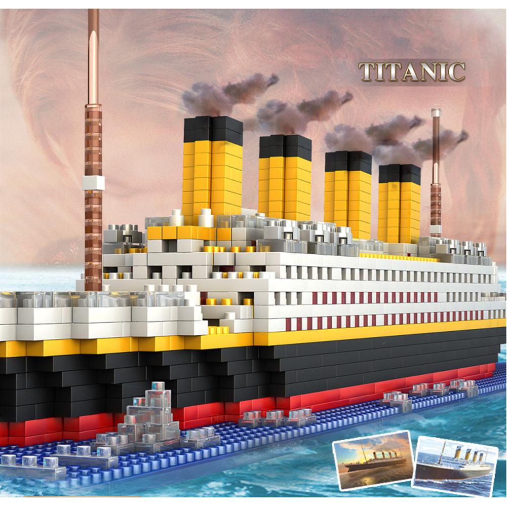 puzzle-game-toys WLtoys 66503 1860pcs Titanic Puzzle Assembled Building Blocks indoor Toys HOB1720674 1