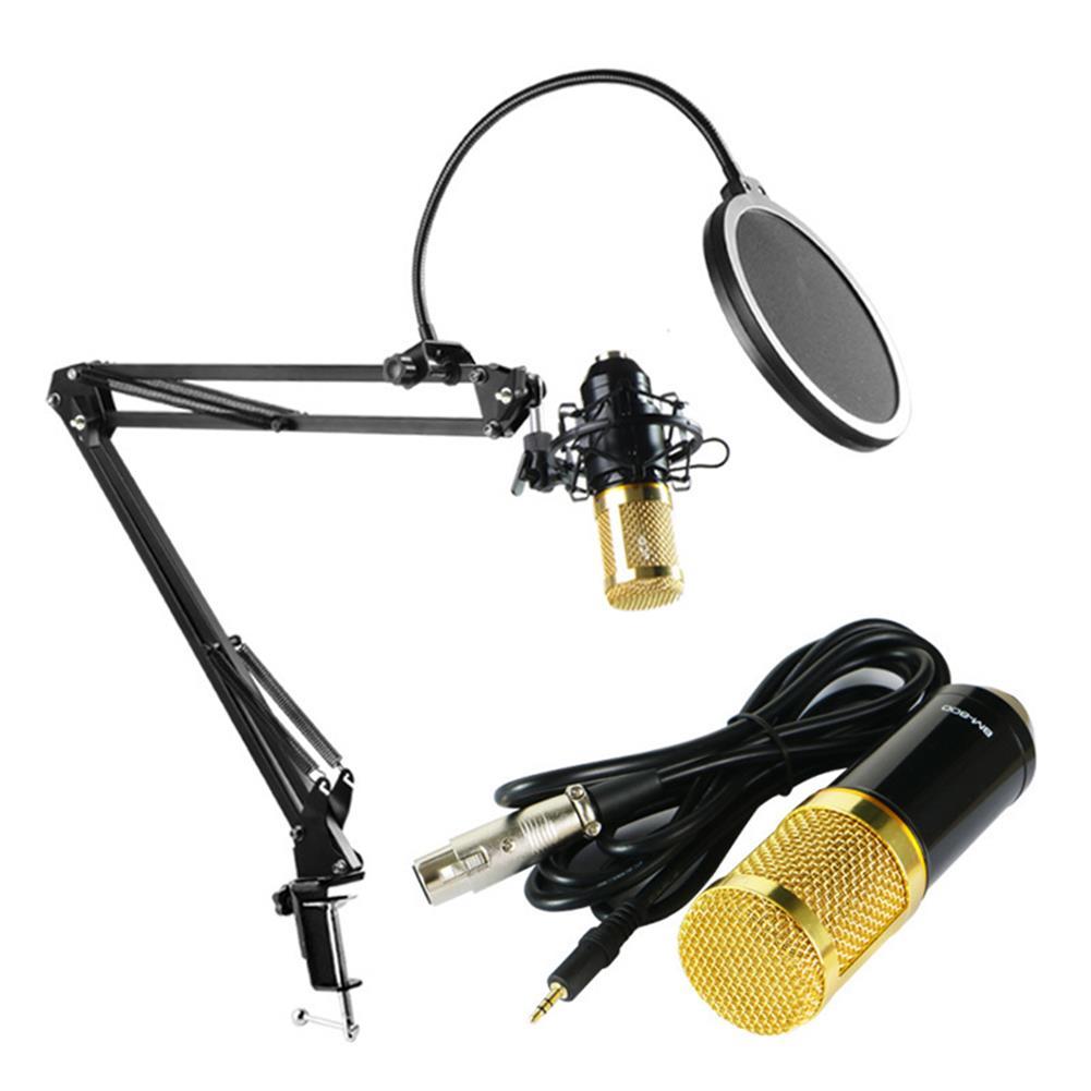 microphones-karaoke-equipment BM800 Condenser Microphone Kit Pro Audio Studio Sound Recording Microphone with V8X PRO Muti-functional Bluetooth Sound Card HOB1721097 1